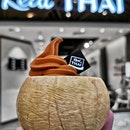 Thai Milk Tea Soft Serve in 🥥🥥 Husk .