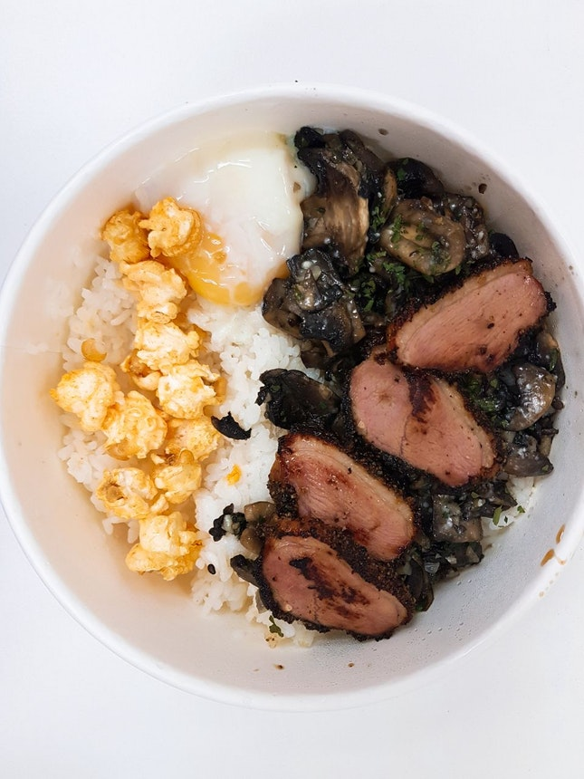 Truffle Mushroom Rice With Smoked Duck