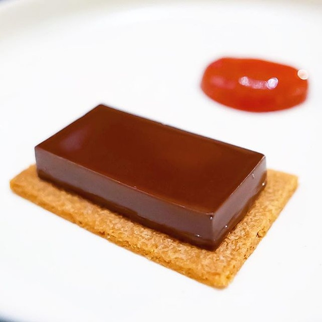 Single-Origin Temuan Chocolate Petit Ecolier, Tamarillo Jam.