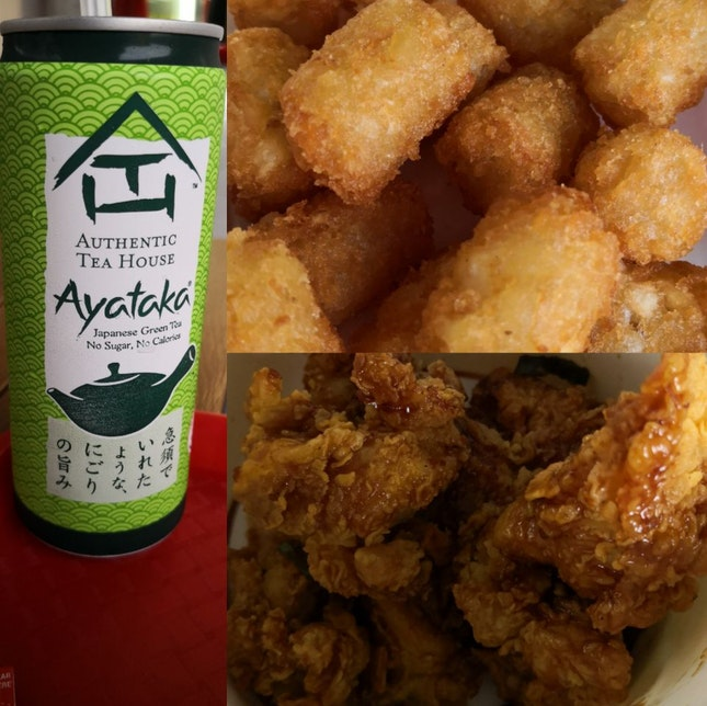 Garlic Soy Chicken N Hash brown Tots