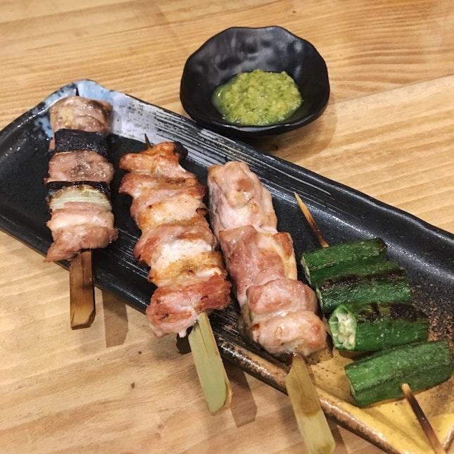 Yakitori & Yakimono (from RM4)