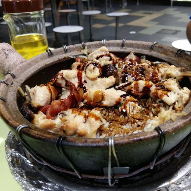 Chicken W Salted Fish Claypot Rice