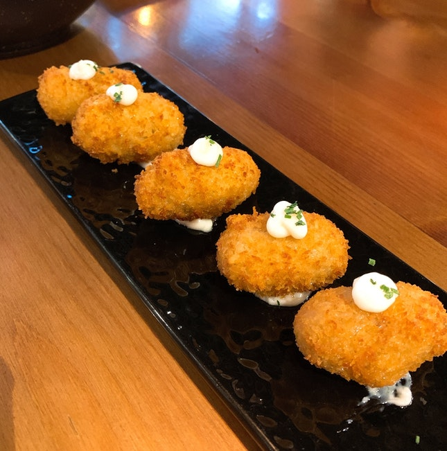 Homemade croquette with pork and chicken