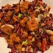 Scorching Szechuan chicken ($15)