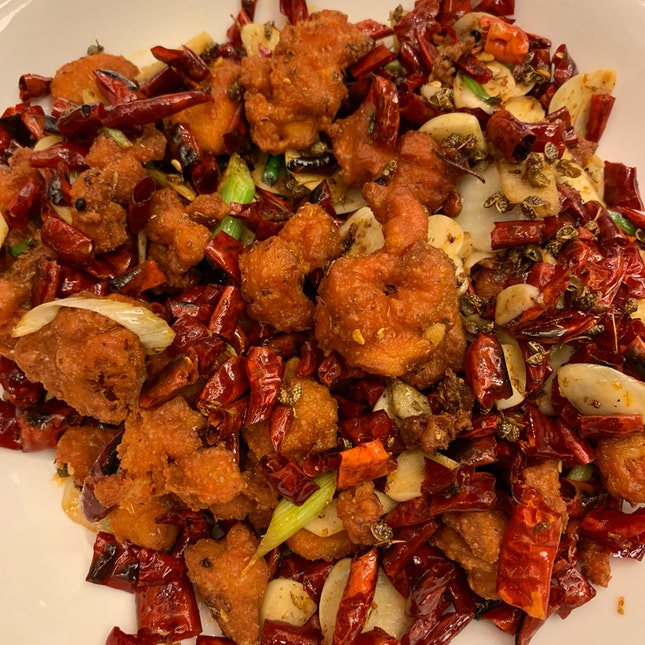 Scorching Szechuan chicken ($15)