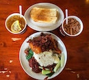 The breakfast that is shared by in Malaysia- Nasi Lemak, Village Park, Malaysia 🇲🇾.