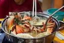 That pot is seafood, yummmm at Fei Fei Crab, Damansara, Malaysia 🇲🇾.
