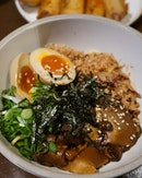 🍄: Miso Mushroom Noodles ($5) — Oh boy!