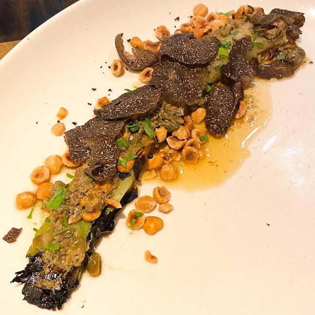 Leek, Hazelnut & Black Truffle ($45)