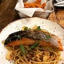 Good Salmon Aglio Olio