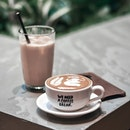 Coffee with hokkaido biei jersey milk is simply just so delicious 🤤 .