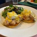 Lobster Eggs Benedict ($36)