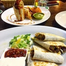Both the beef burrito and quesadilla were quite similar except one was flour tortilla filled with refried beans, iceberg and mozzarella cheese and the other was flour tortilla filled with cheese.