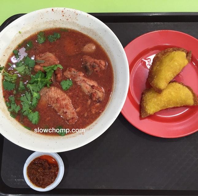 Red Wine Chicken Mee Sua, $4