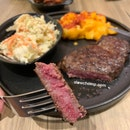 Sirloin (petite) With 2 Sides, $30.90++