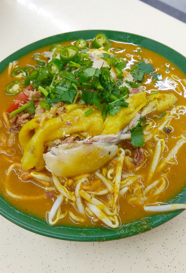 Mee Rebus With Chicken Leg
