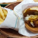 Keema Curry Chicken Katsu Burger