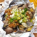Foil-Wrapped Clams