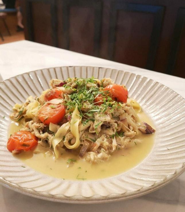 White Crabmeat Pasta