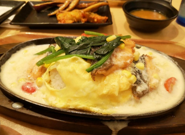 Salmon Cream Omurice