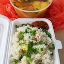 Beef Tomato Potato Soup With Egg Fried Rice