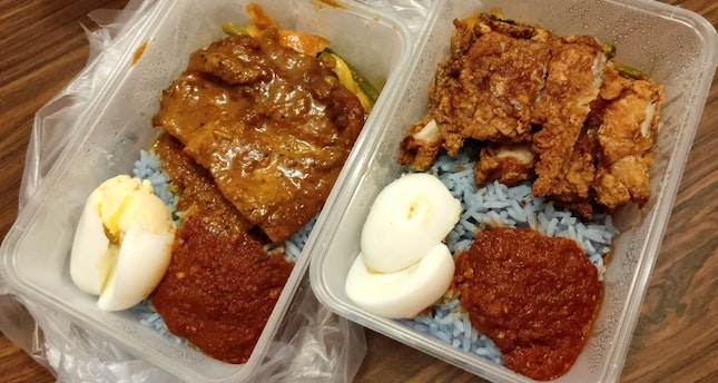 Rendang & Prawn Paste Chicken Nasi Lemak