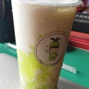 Coconut Shake With Pandan Sago