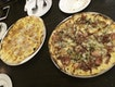 Garlic Snow Pizza And Meatatarian Pizza