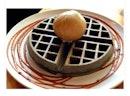 Espresso ice cream on charcoal waffle 🤤