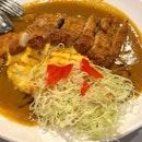Omelette chicken katsu curry rice 🍛