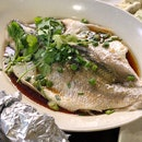 Hongkong style steamed sea bass