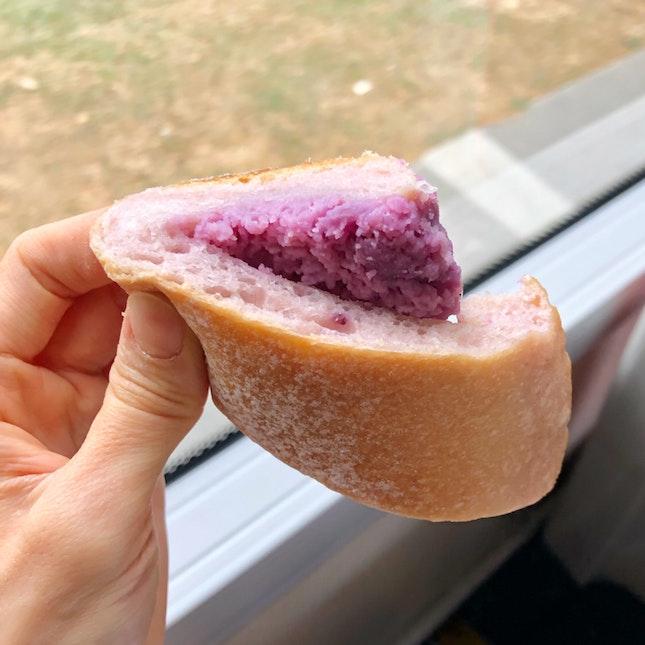 Purple sweet potato bread ($2.90)