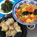 Gyoza 🥟 Tomato Egg Noodle 🍜🥚🍅 Xiao Cai 🥬