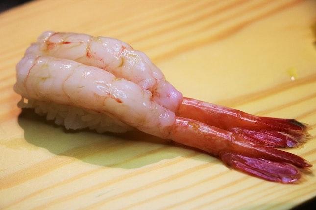 Botan Ebi (Botan Shrimp) Sushi