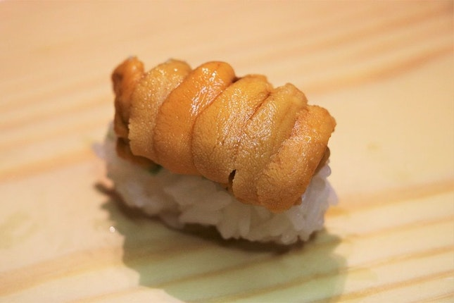 Shiro Uni (White Sea Urchin Roe) Sushi