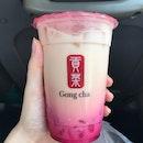 Rose Milk Tea w White Pearl ($2.80 promo)