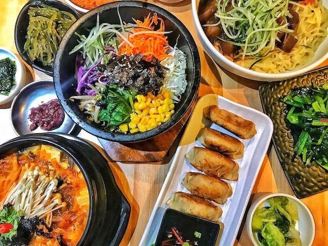 Vegan korean cuisines