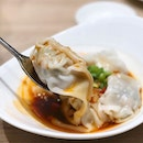 Our must have at Canton Paradise, 紅油抄手 dumplings in chilli oil!