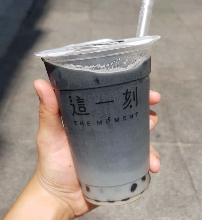 The Moment Grey Milk Tea ($5.80)