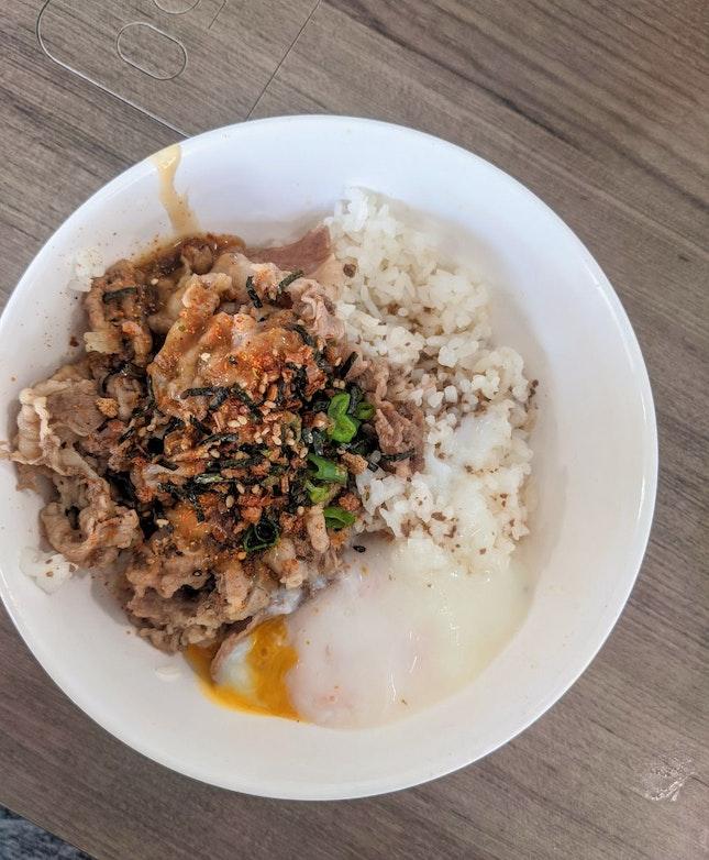 Teriyaki Beef Short Plate W/ Onsen Egg ($6.90)