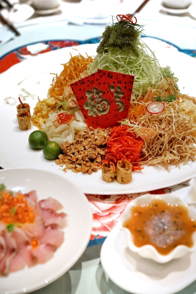 CNY is less than one month. Celebrate it with Auspicious Tidings Hamachi Yusheng, conjured by Group Executive Chef Martin Foo.