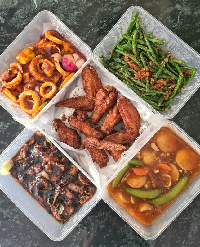 @zatayayummy sent a surprise meal for me and my family from 1036 live seafood last Saturday, freshly cooked zi char.