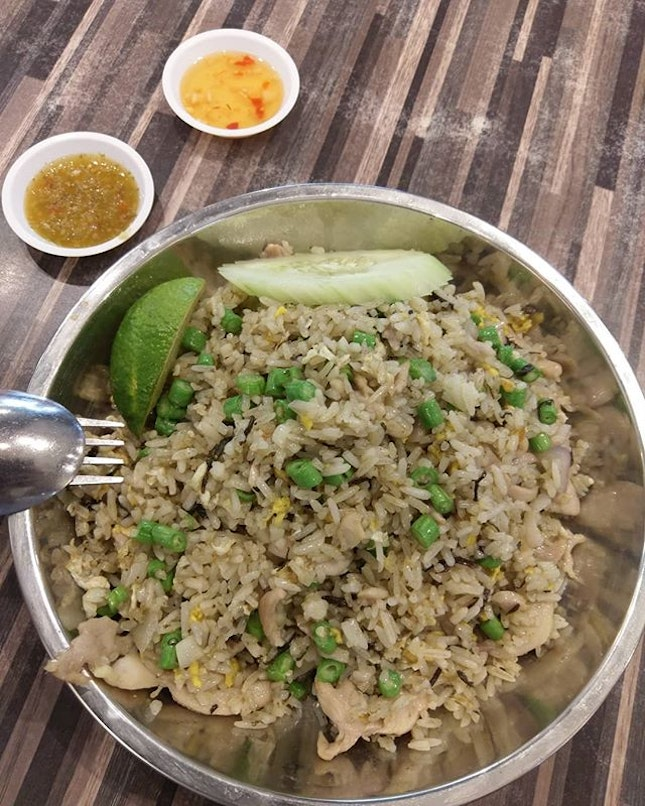 Olive fried rice from Khao San in a Kopitiam.