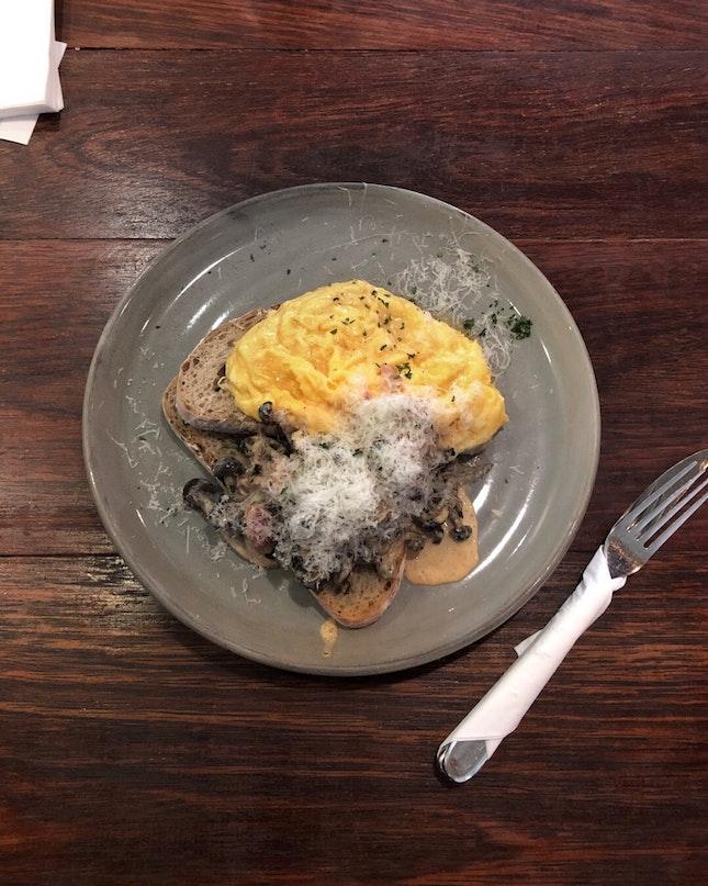 Creamy Mushroom Toast - Atlas Coffeehouse