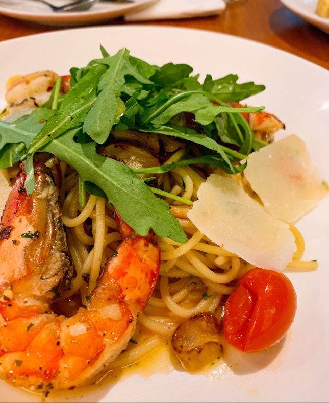 Garlic & Chilli Prawn Spaghetti