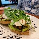 Avocado Mushrooms Asparagus