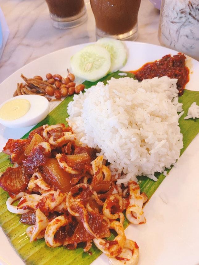Sotong Sambal Nasi Lemak