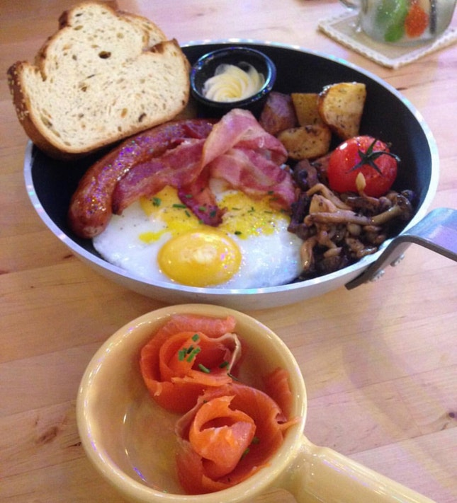 All Day Breakfast $19.80++ (Additional Smoked Salmon $4++)