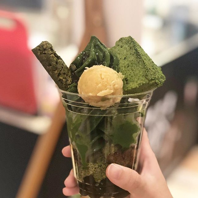 Most hardcore, intense matcha I've ever had the pleasure of eating😱😱 - - - Sooo lucky I got the chance to catch the last day of @tsujirihei_honten at Taka today!!