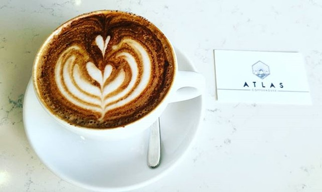 Atlas CoffeeHouse Singapore ,Toffee Nut Latte.